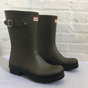 New Hunter Men's Sz 11 Army Green Short Rain Boots